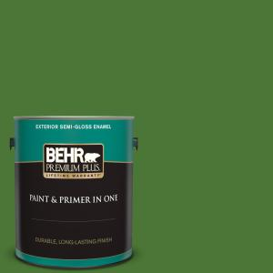 Behr Marquee 1 Gal P380 7 Luck Of The Irish Satin Enamel Exterior Paint And Primer In One 945301 The Home Depot