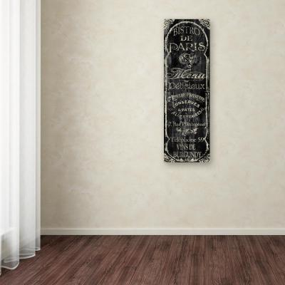 """24 in. x 8 in. """"Paris Bistro VIII"""" by Color Bakery Printed Canvas Wall Art"""