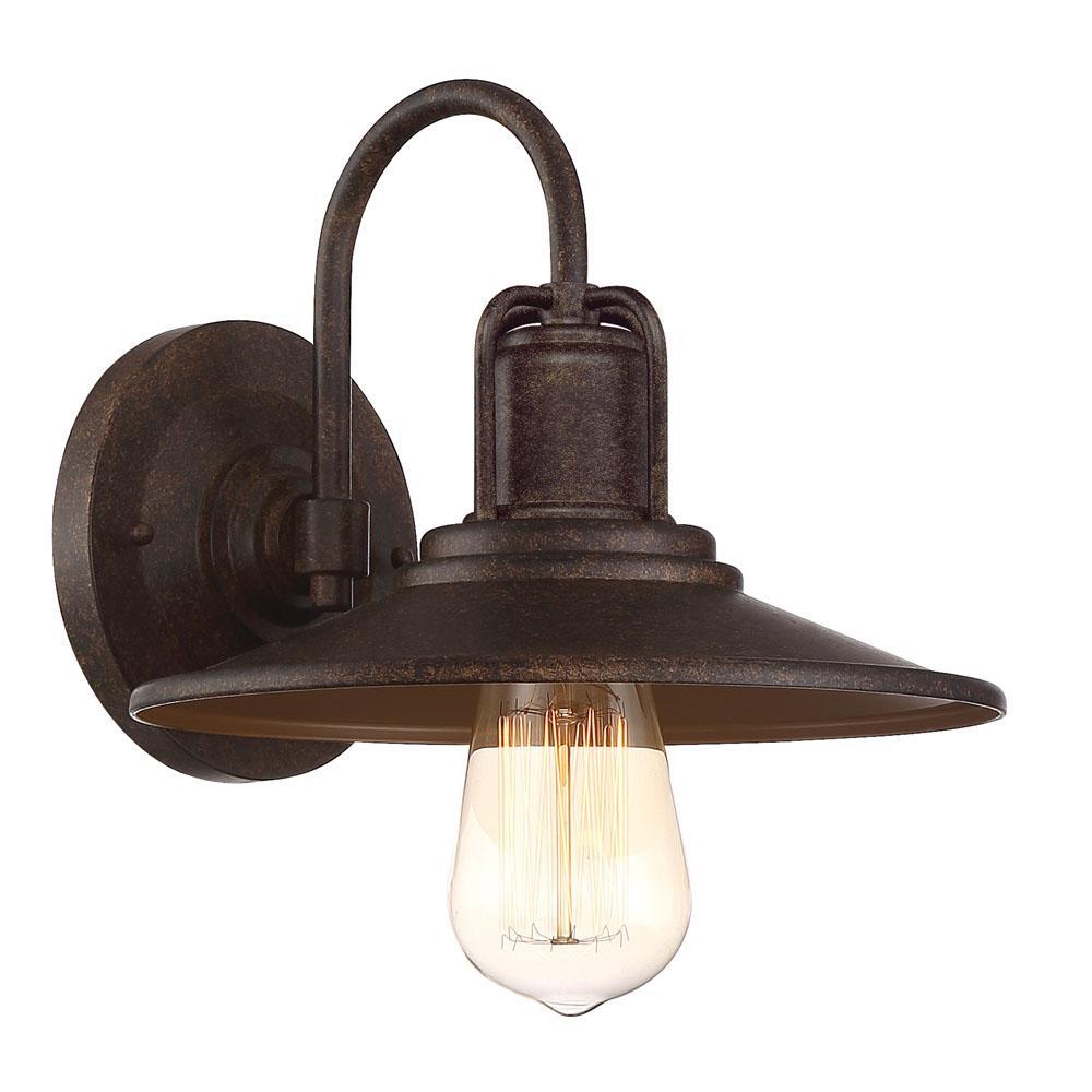 Cooper 1-Light Venetian Bronze Outdoor Wall Mount Lantern