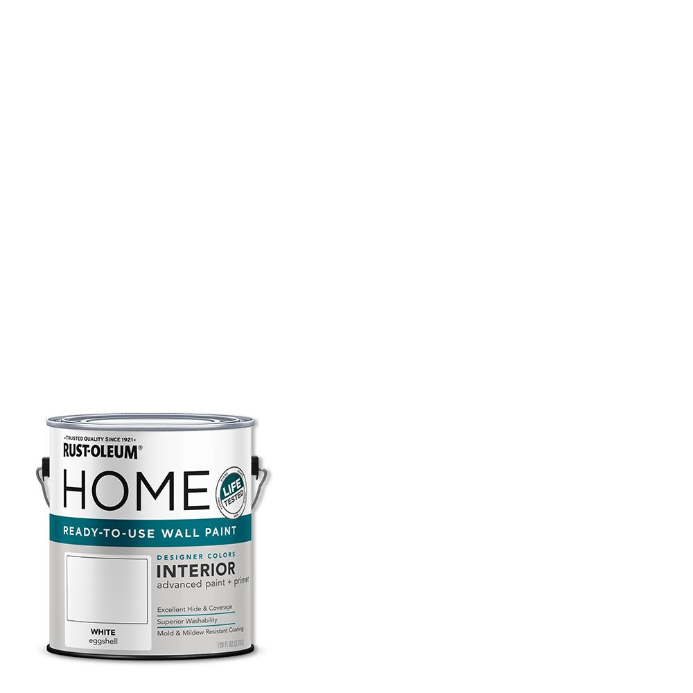 Rust-Oleum Home 1 gal. Eggshell White Interior Wall Paint (2-pack)