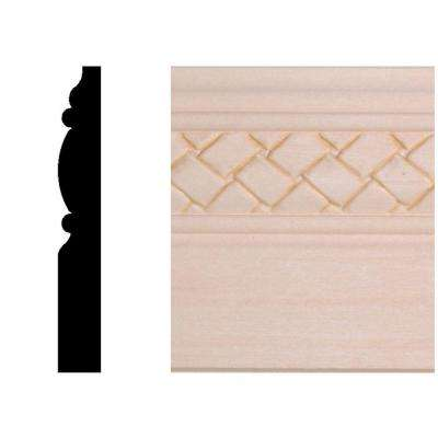 29/64 in. x 3-1/4 in. x 96 in. Hardwood Weave Base Moulding