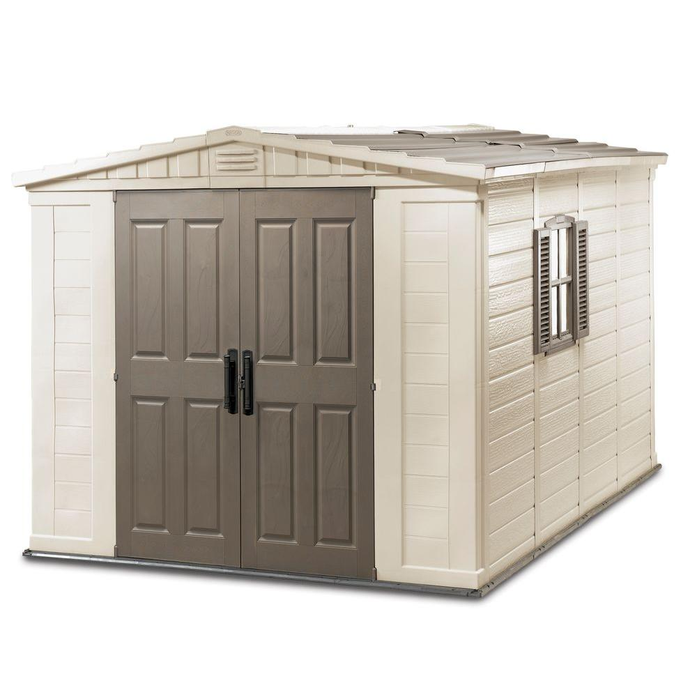 Keter Fortis 8 ft. x 11 ft. Outdoor Storage Building-DISCONTINUED