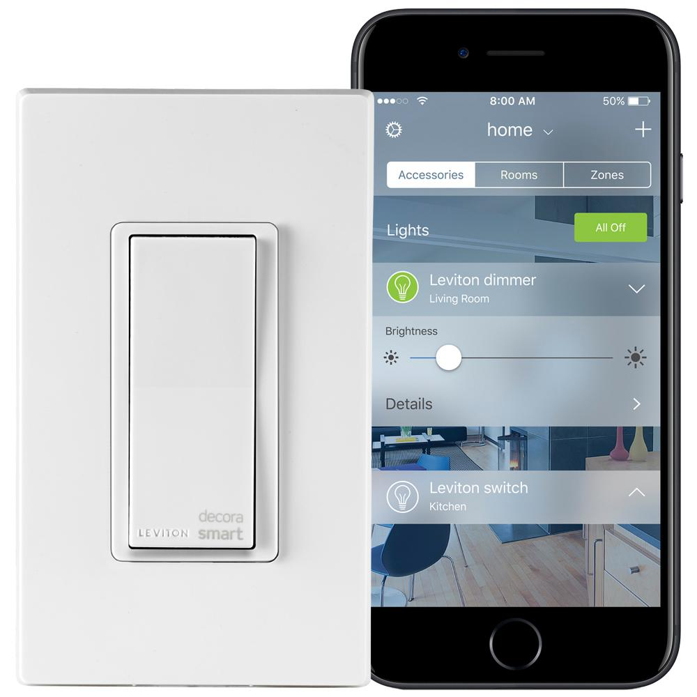 Leviton 15 Amp Decora Smart with HomeKit Technology Switch, Works ...