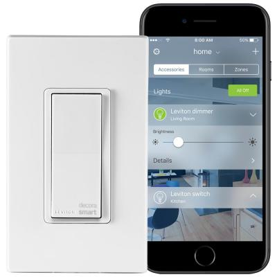 Decora Smart 15 Amp Light Switch Works with Apple HomeKit Wallplate Included, White