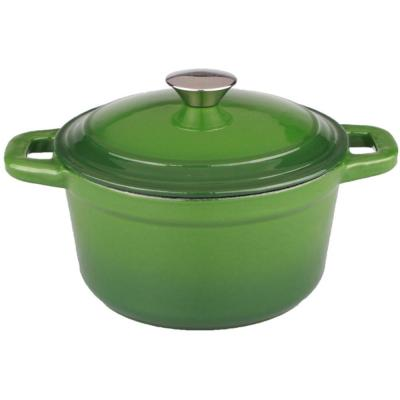 Neo 3 qt. Round Cast Iron Dutch Oven in Green with Lid