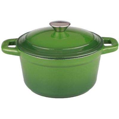 Neo 3 Qt. Cast Iron Round Green Dutch Oven with Lid
