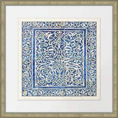 """28 in. x 28 in. """"Colorful Tiles I"""" Framed Giclee Print Wall Art"""