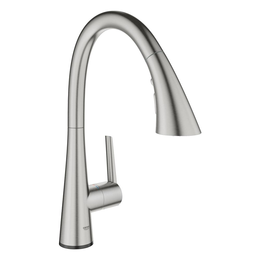 GROHE GROHE Ladylux L2 Touch Single-Handle Pull-Out Sprayer Kitchen Faucet with Touch Activation in SuperSteel Infinity Finish