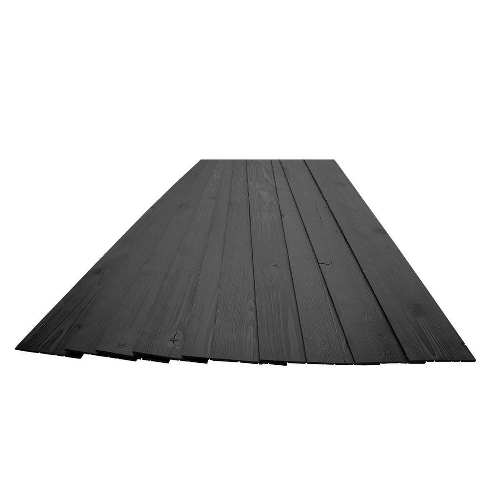 3/16 in. x 5-1/8 in. x 46-1/2 in. Ebony Rustic Pine Wood Plank Self-Adhesive (10-Pack)
