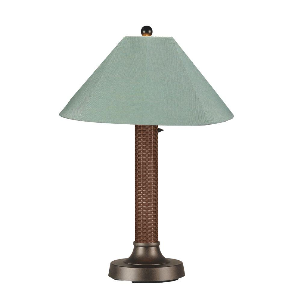 Bahama Weave 34 in. Red Castagno Outdoor Table Lamp with Spa