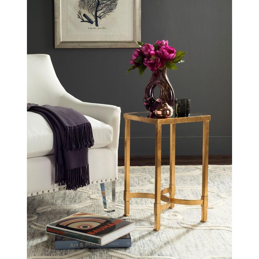 Halyn Antique Gold Leaf End Table