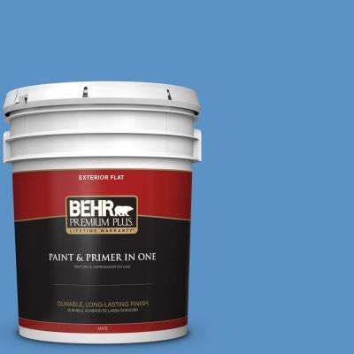 5 gal. #MQ4-26 Come Sail Away Flat Exterior Paint and Primer in One