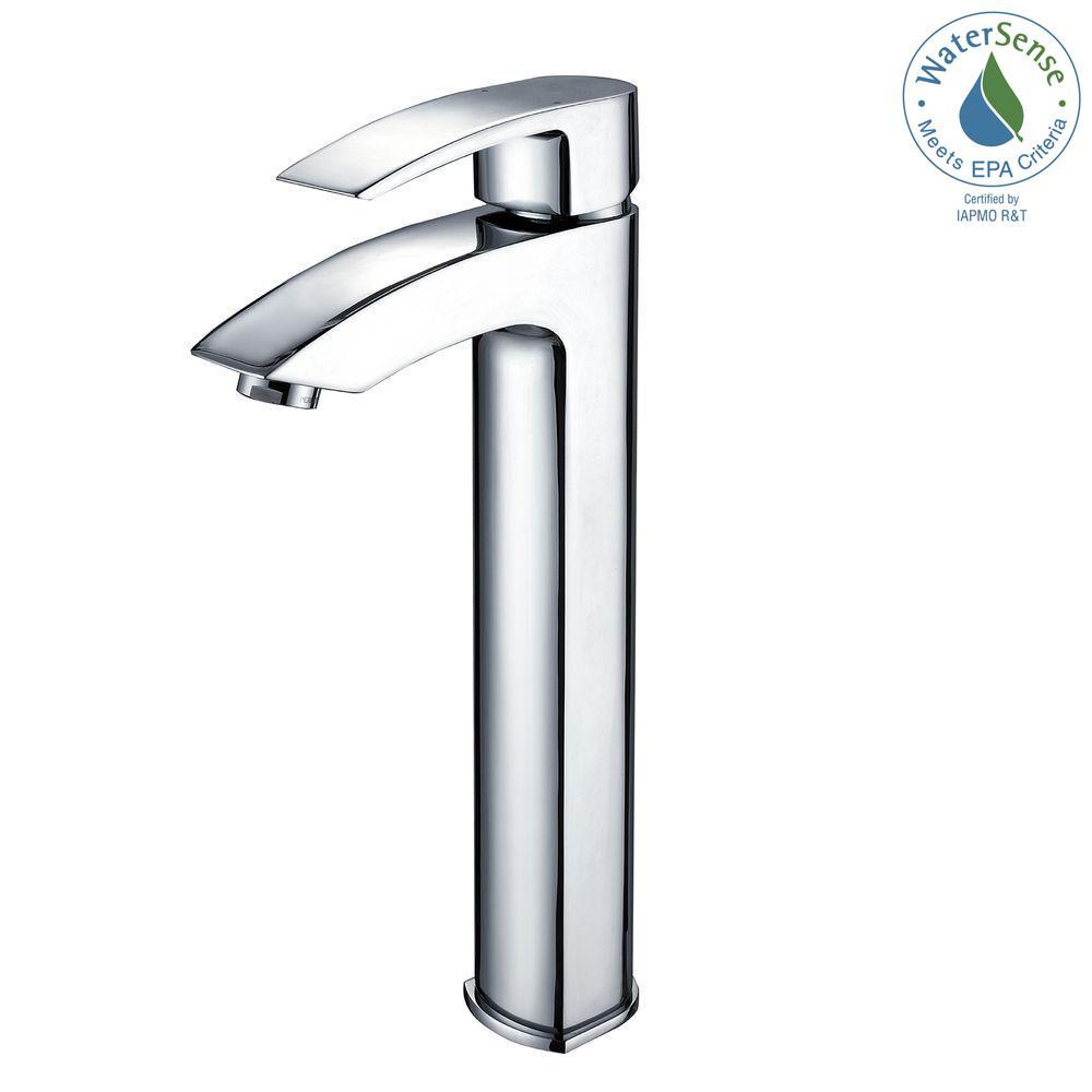 Kraus Visio Single Hole Single Handle Vessel Bathroom Vessel Faucet