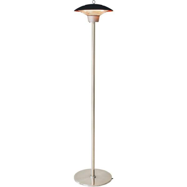 Hanover Electric Halogen Infrared Stand Heat Lamp, Black