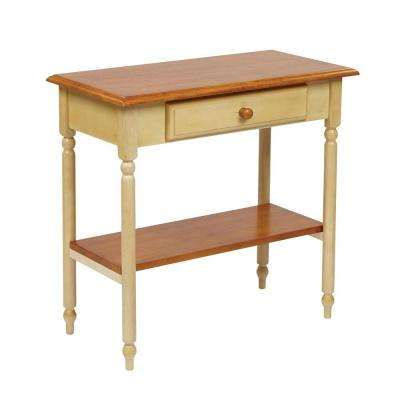Tan Storage Console Table