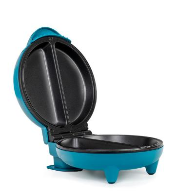 4-Egg Teal and Stainless Steel 2-section Omelette Maker