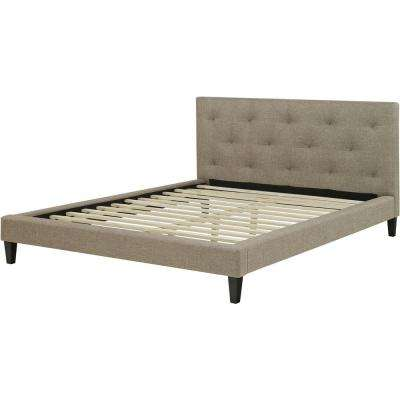 Kensington Linen Tufted Full Platform Bed