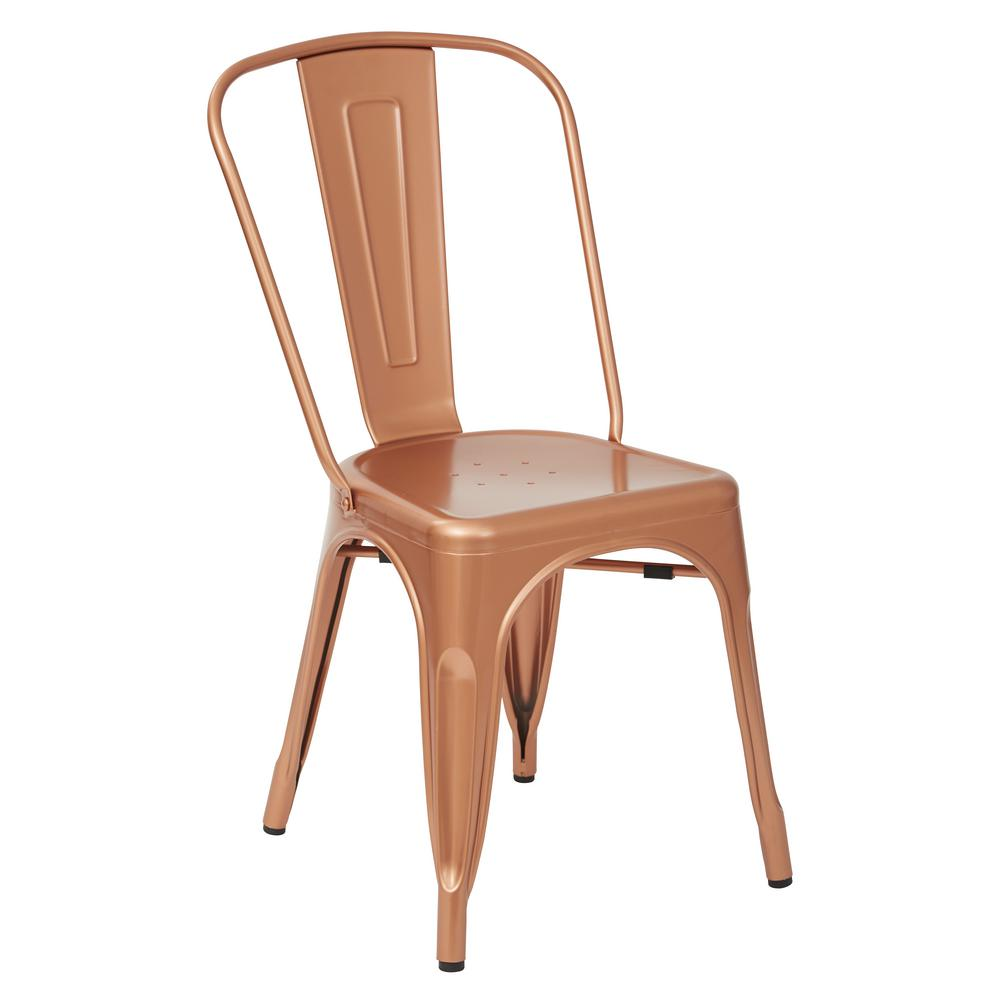 Bristow Copper Armless Chair (4-Pack)