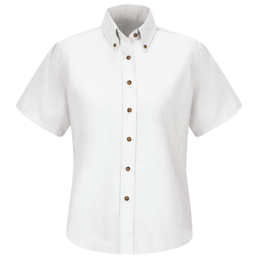 Red Kap Womens Size 20 White Poplin Dress Shirt Sp81wh Ss 20 The