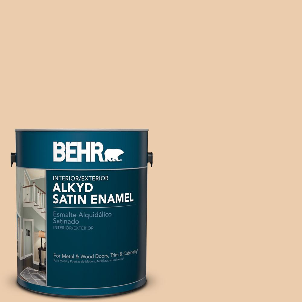 1 gal. #AE-15 Wooden Peg Satin Enamel Alkyd Interior/Exterior Paint