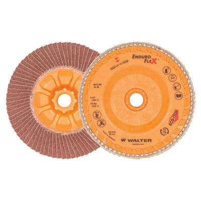 ENDURO-FLEX 4.5 in. x 5/8-11 in. Arbor GR80 The Longest Life Flap Disc (10-Pack)