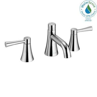 Nexus 8 in. Widespread 2-Handle Bathroom Faucet in Polished Chrome