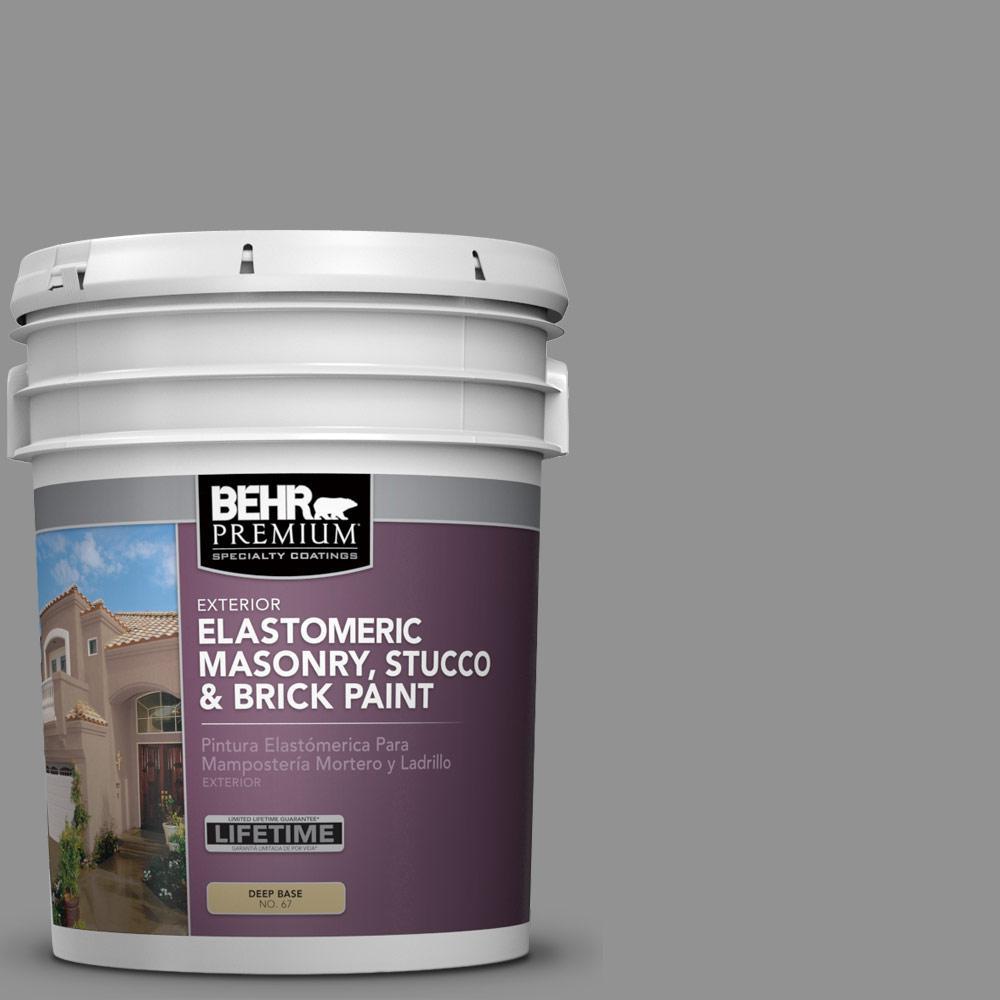 5 gal. #N520-4 Cool Ashes Elastomeric Masonry, Stucco and Brick Exterior Paint
