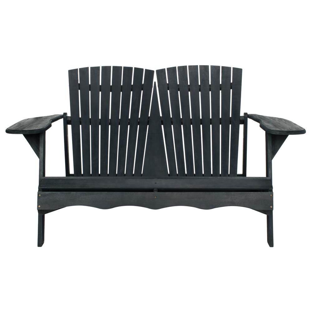 Hantom 57.1 in. Dark Slate Gray Wood Outdoor Bench