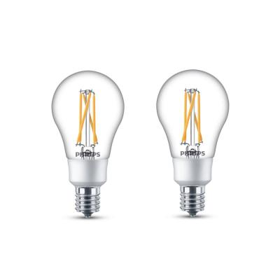 40-Watt Equivalent A15 Dimmable with Warm Glow Dimming Effect Intermediate Base LED Light Bulb Soft White (4-Pack)