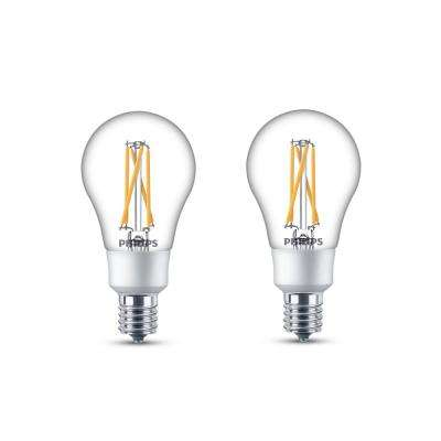 40-Watt Equivalent Soft White A15 Dimmable with Warm Glow Dimming Effect Intermediate Base LED Light Bulb (2-Pack)