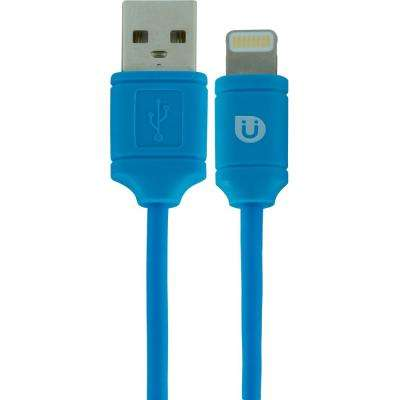 4 ft. USB Lightning Sync Charging Cable - Blue
