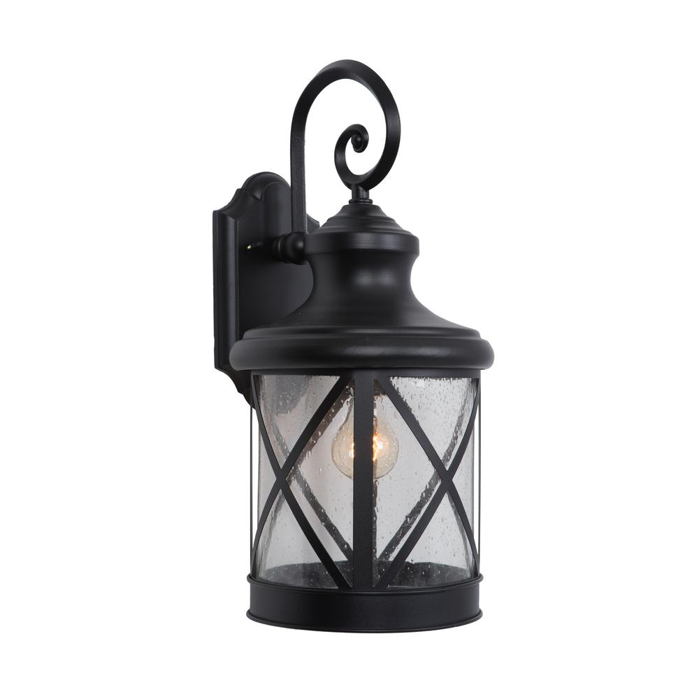 Yosemite Home Decor 1 Light Exterior Lantern In Black Finish Large Size 5041bl L The Home Depot
