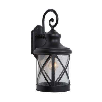 1-Light Exterior Lantern in Black Finish Large Size