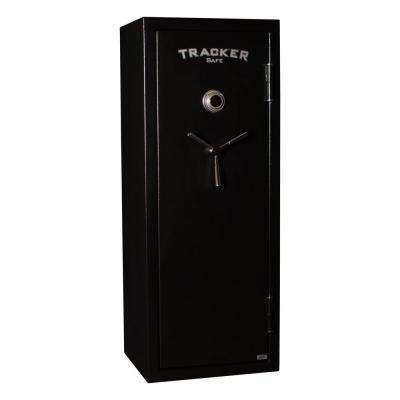 12-Gun Fire Resistant Combination/Dial Lock Gun Safe in Black Powder Black