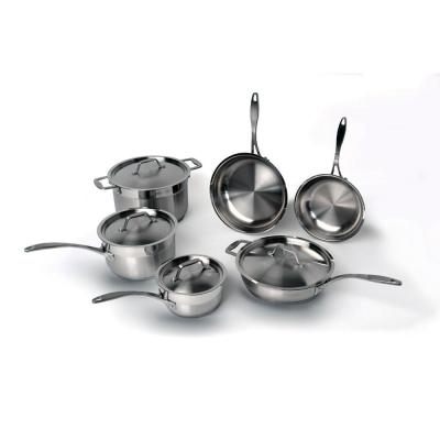 EarthChef Professional 10-Piece Stainless Steel Cookware Set