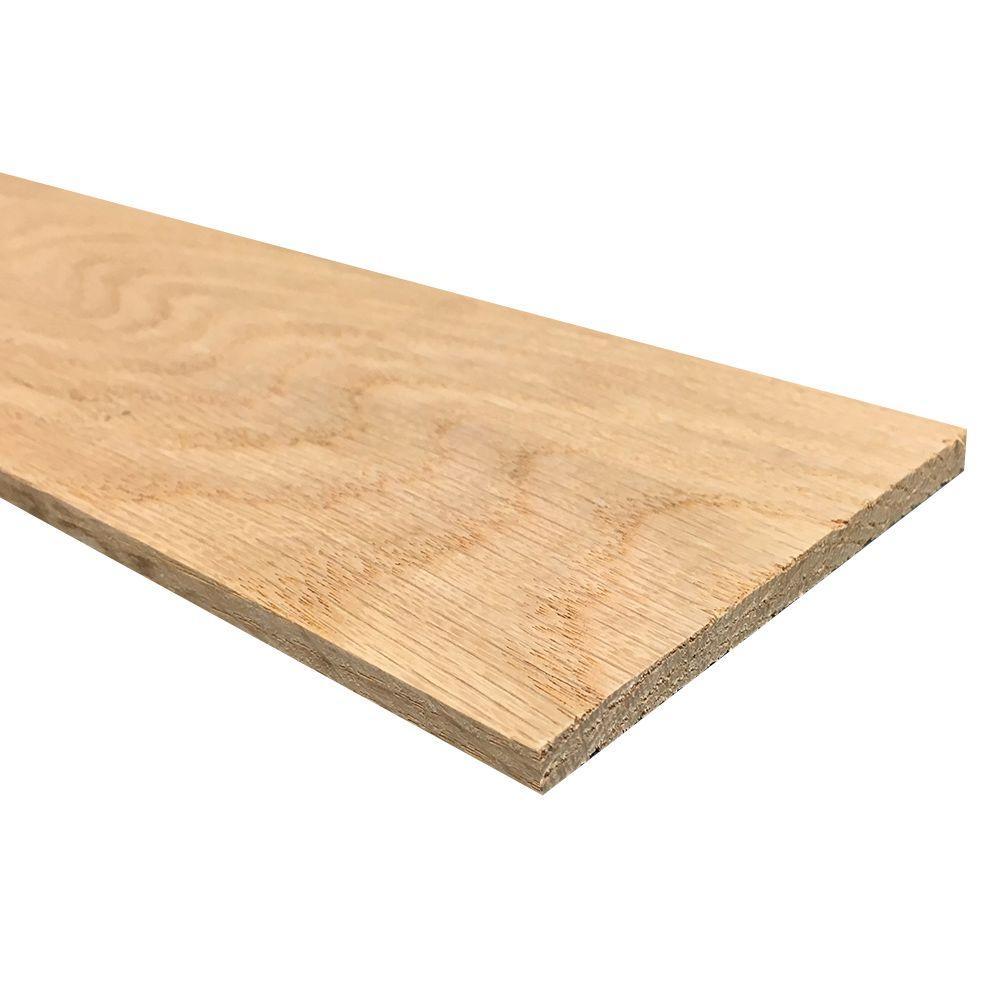 1/4 in. x 4 in. x 4 ft. Hobby Board Kiln Dried S4S Oak Board (40-Piece)