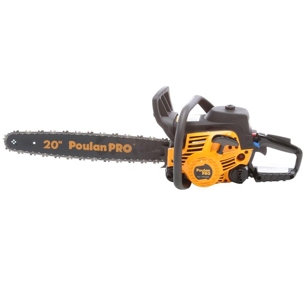 Poulan pro 20 in 50cc gas chainsaw 966055201 the home depot 50cc gas chainsaw greentooth Images