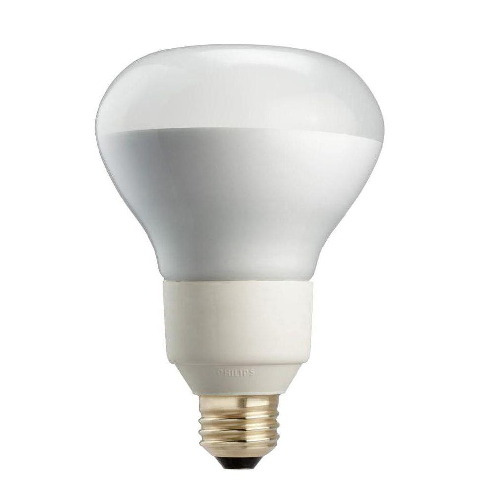 Philips 85W Equivalent Soft White R40 Dimmable CFL Flood Light Bulb (4-Pack)