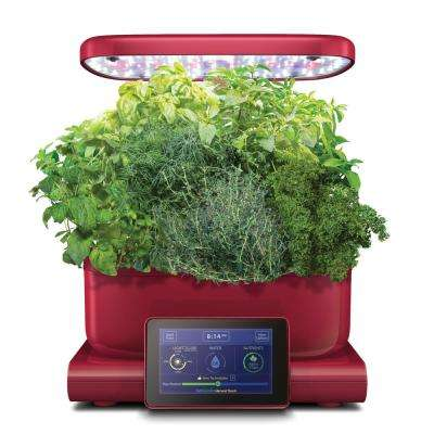 AeroGarden Harvest Touch Indoor Hydroponic Garden Kit in Red