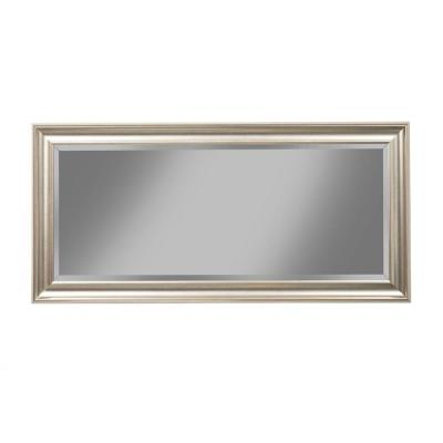 Champagne Silver Full Length Leaner Mirror with Rectangular Polystyrene Frame