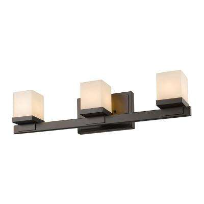 3-Light Bronze LED Bath Light
