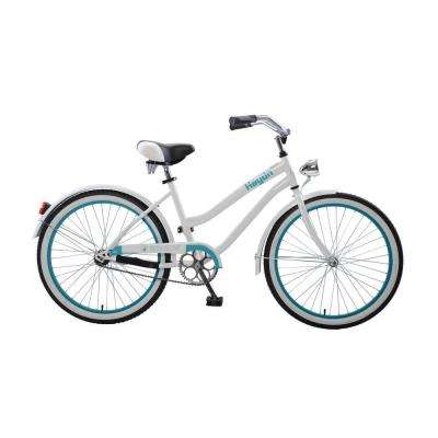 Hayden Cruiser 24 in. Wheels Oversized Frame Girl's Bike in White/Teal