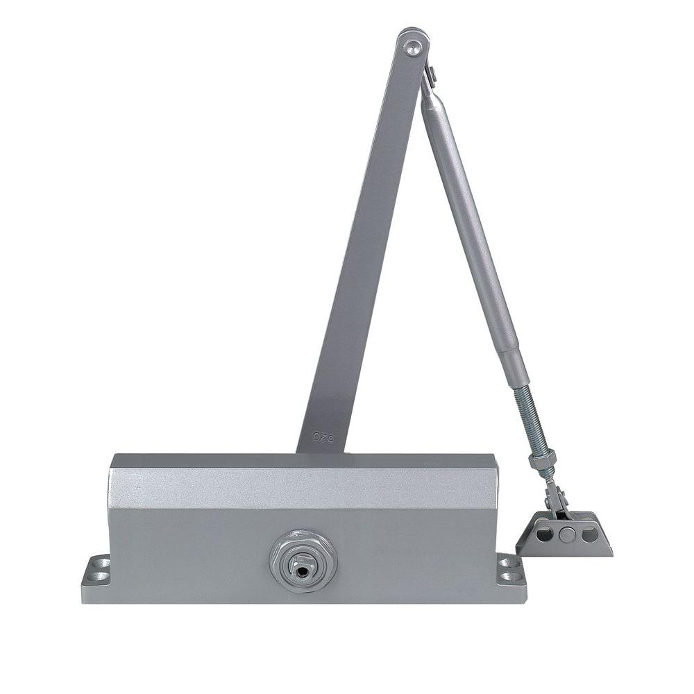 Commercial Door Closer with Hold Open Arm in Aluminum - Size