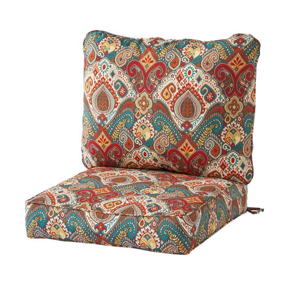 Greendale Home Fashions Asbury Park 2 Piece Deep Seating Outdoor Lounge Chair Cushion Set