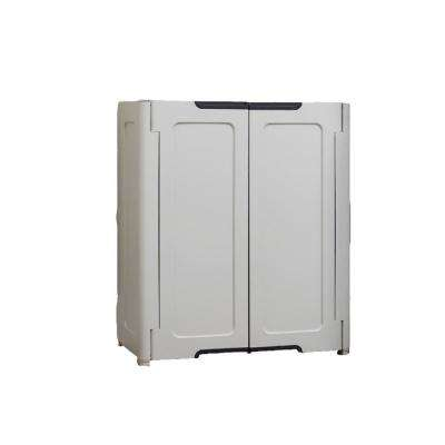 19 in. H x 30 in. W x 36 in. D Stackable Utility Base/Wall Freestanding Cabinet in Light Grey