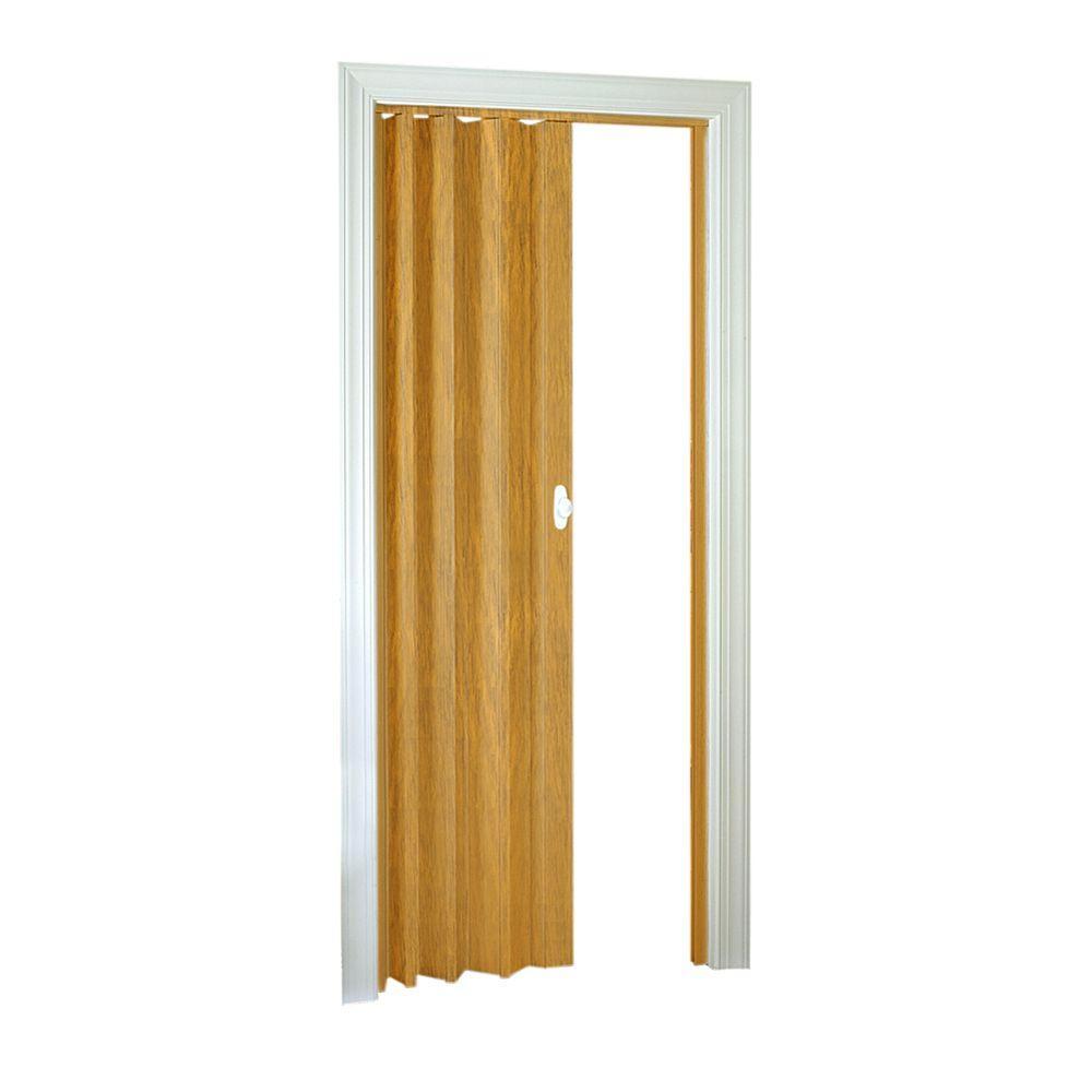 LTL Home Products 32 in. x 80 in. Ellington Vinyl Rustic Oak Accordion Door