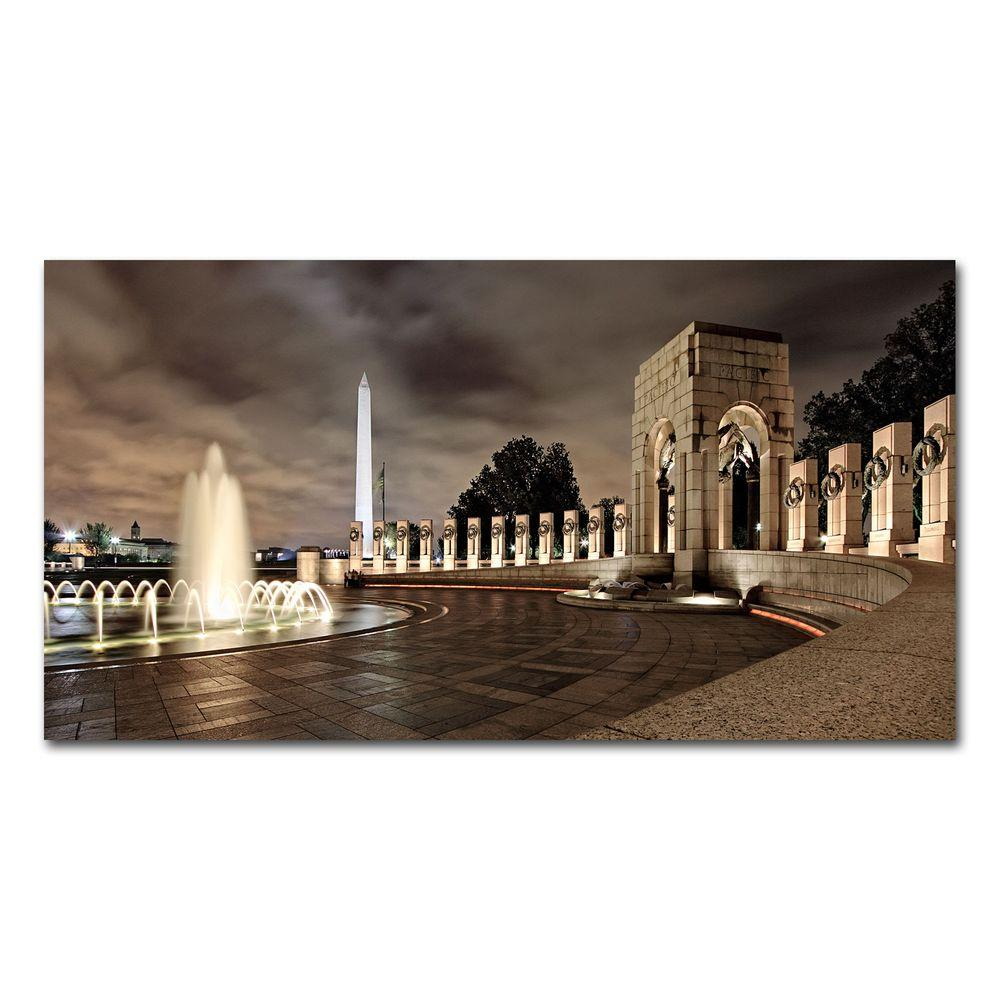 30 in. x 47 in. World War II Memorial at Night