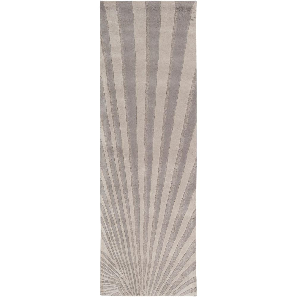 Surya Candice Olson Oyster Gray 2 ft. 6 in. x 8 ft. Rug Runner