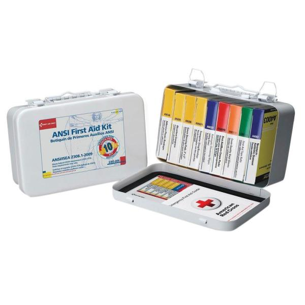 10-Unit ANSI First Aid Kit (64-Piece)
