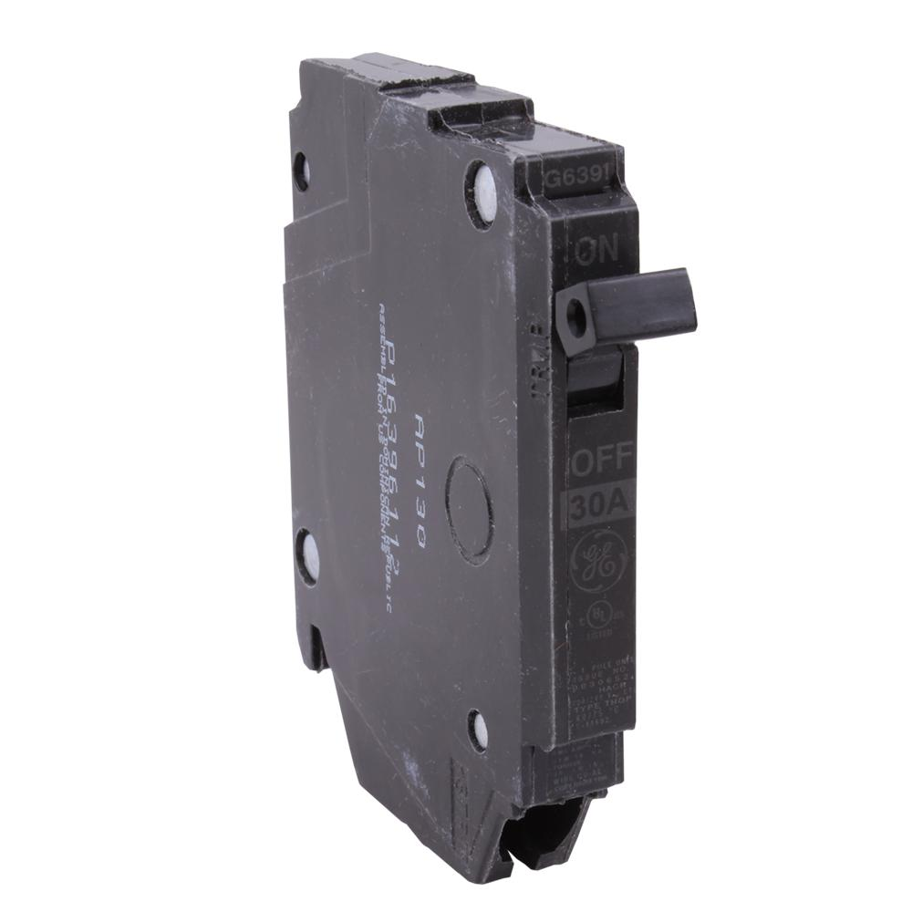 GE Q-Line 30 Amp 1/2 in. Single Pole Circuit Breaker